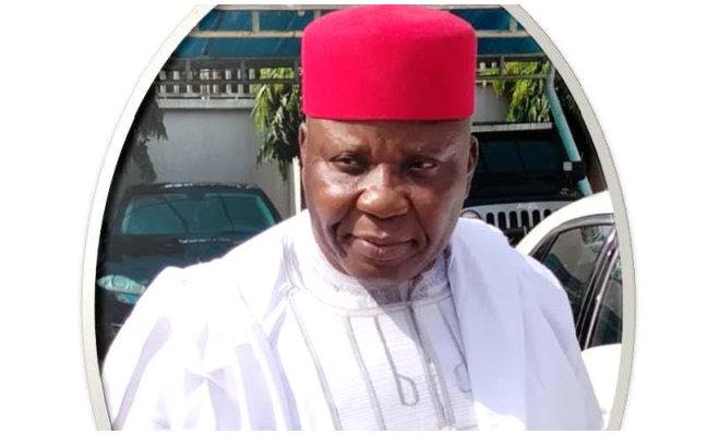 elder wearing red hat